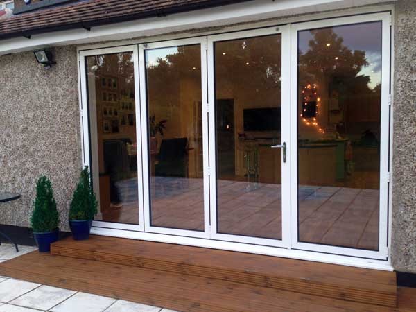 aluminium bi-folding doors colours park gate